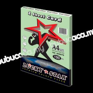 2 Sheet Card A4 100'S CS130 Green