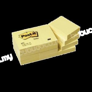 3M Post It Note 1.5 X 2 653 Yellow