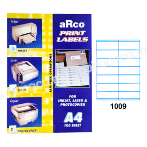 ARCO Print Label A4 Size for Inket, Laser & Photocopier 1009 100sheets
