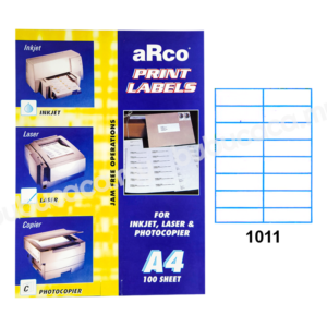 ARCO Print Label A4 Size for Inket, Laser & Photocopier 1011 100sheets