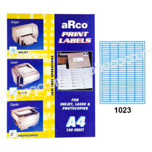 ARCO Print Label A4 Size for Inket, Laser & Photocopier 1023 100sheets