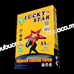 LUCKY STAR Colour Paper A4 80G CS200 Gold