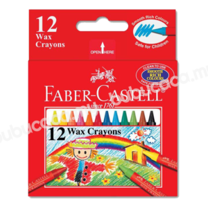 FABER CASTELL Wax Crayon 12S