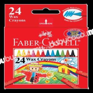 FABER CASTELL Wax Crayon 24S