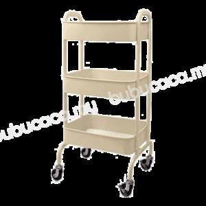 OKURA 3 TIER Steel Trolley With Side Handles
