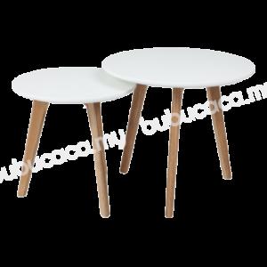 OKURA Modern Nesting Round Side Table 2 in 1