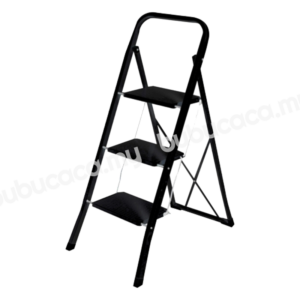 OKURA 3 Step Folding Ladder Heavy Duty Industrial Lightweight
