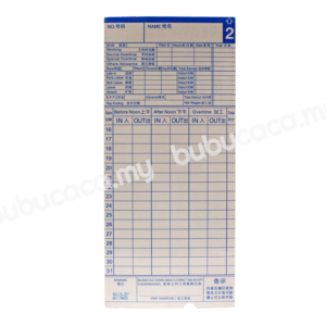 Punch Card 100S with Hole White